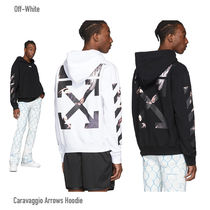 Off-White Unisex Sweat Street Style Long Sleeves Logo Hoodies