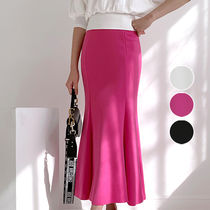 Pencil Skirts Casual Style Plain Long Elegant Style