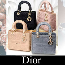 Christian Dior LADY DIOR Casual Style Canvas 2WAY Party Style Office Style