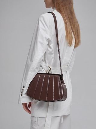 Leather Office Style Elegant Style Shoulder Bags