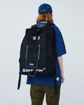 ADERERROR Casual Style Unisex Street Style A4 Logo Backpacks