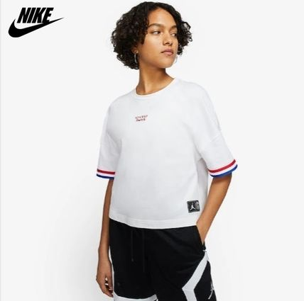 Crew Neck Short Collaboration Short Sleeves Cropped