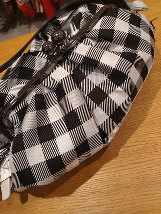 Gingham Casual Style Shoulder Bags
