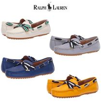 Ralph Lauren Rubber Sole Casual Style Street Style Plain Leather