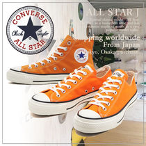 CONVERSE ALL STAR Casual Style Unisex Plain Logo Low-Top Sneakers