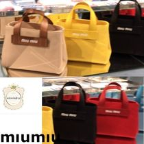 MiuMiu Leather Logo Handbags