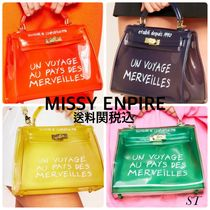 MISSY EMPIRE Casual Style Street Style Crystal Clear Bags Handbags