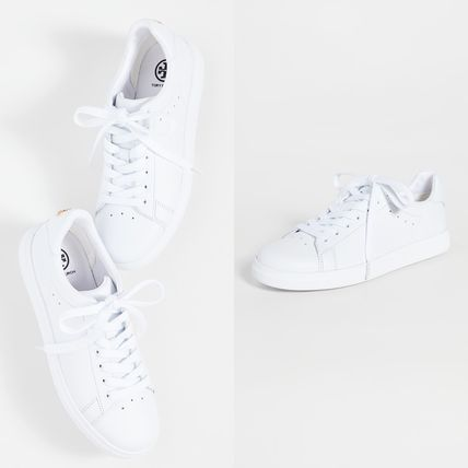 Casual Style Plain Leather Office Style Low-Top Sneakers