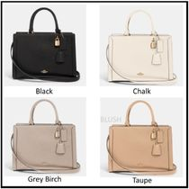 Coach Casual Style 2WAY Plain Leather Office Style Crossbody