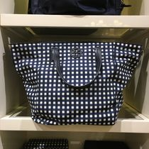 Tory Burch Gingham Casual Style Nylon 2WAY Plain Crossbody Totes