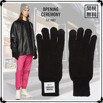 OPENING CEREMONY Street Style Plain Cotton Logo Gloves Gloves