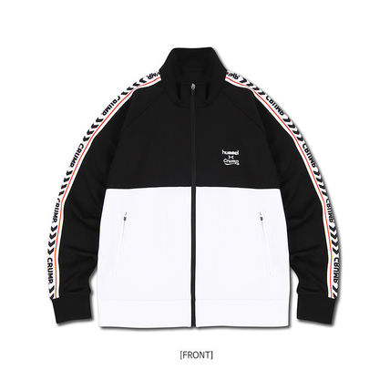 Unisex Street Style Collaboration Co-ord Logo Track Jackets
