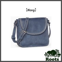 Roots Casual Style Leather Crossbody Bags