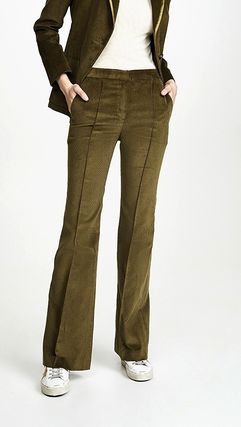 Casual Style Corduroy Plain Cotton Pants