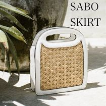 SABO SKIRT Casual Style 2WAY Plain Crossbody Handbags