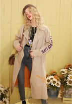 ELF SACK Casual Style Blended Fabrics Street Style Plain Long