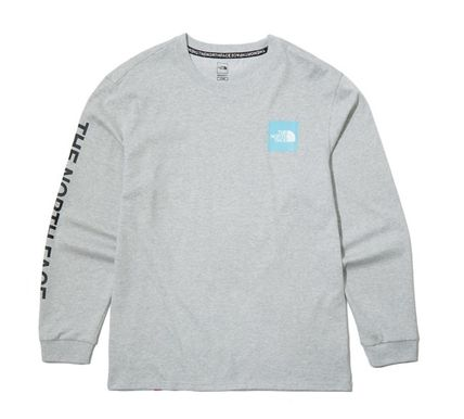 THE NORTH FACE Long Sleeve Unisex Street Style Long Sleeves Cotton Long Sleeve T-shirt 9