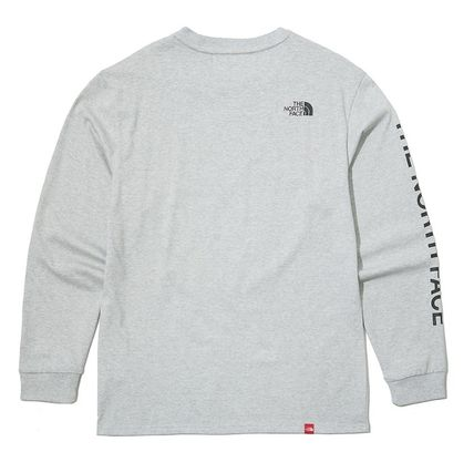 THE NORTH FACE Long Sleeve Unisex Street Style Long Sleeves Cotton Long Sleeve T-shirt 10