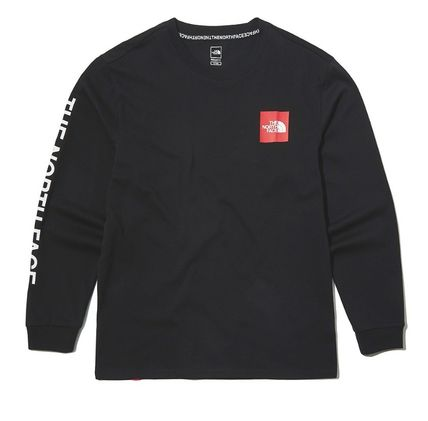 THE NORTH FACE Long Sleeve Unisex Street Style Long Sleeves Cotton Long Sleeve T-shirt 15