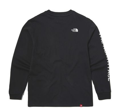 THE NORTH FACE Long Sleeve Unisex Street Style Long Sleeves Cotton Long Sleeve T-shirt 16