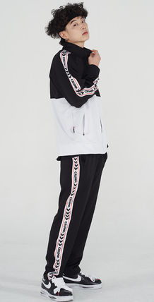 Unisex Street Style Collaboration Co-ord Logo Pants