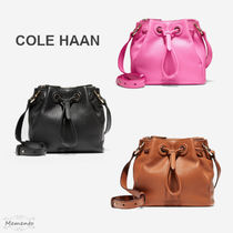 Cole Haan Casual Style Street Style 2WAY Plain Leather Party Style