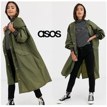 ASOS Casual Style Faux Fur Plain Long Elegant Style Formal Style