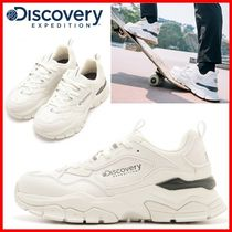 Discovery EXPEDITION Unisex Street Style Logo Low-Top Sneakers