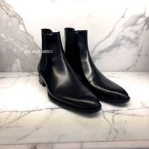 Saint Laurent Leather Chelsea Boots Logo Chelsea Boots