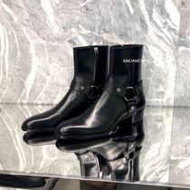 Saint Laurent Leather Logo Boots