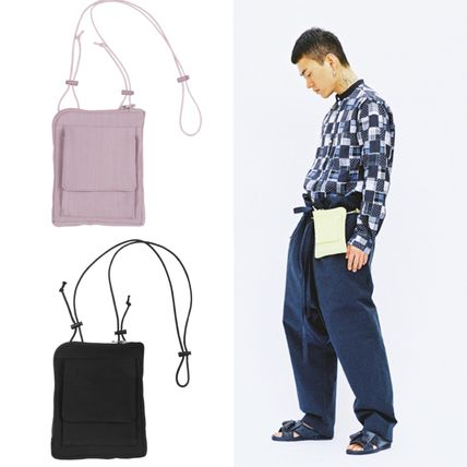 Unisex Street Style Icy Color Messenger & Shoulder Bags
