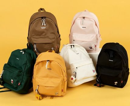 Unisex Plain Street Style Backpacks