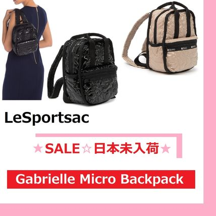 Casual Style 2WAY Plain Logo Backpacks