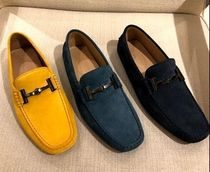 TOD'S Driving Shoes Suede Plain U Tips Loafers & Slip-ons