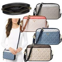 Michael Kors JET SET TRAVEL Monogram Casual Style Bi-color PVC Clothing Elegant Style