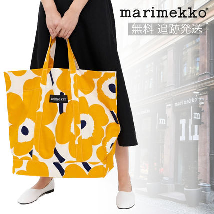 Flower Patterns Casual Style A4 Office Style Totes
