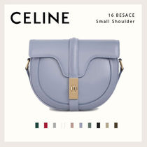CELINE 16 Casual Style Calfskin Lambskin 2WAY Leather Party Style