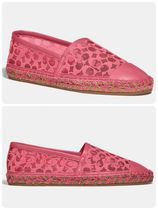 Coach Platform Round Toe Rubber Sole Casual Style Leather Logo
