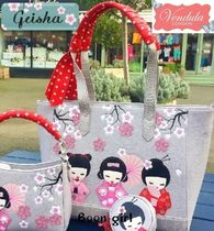 Vendula Flower Patterns Faux Fur A4 Totes