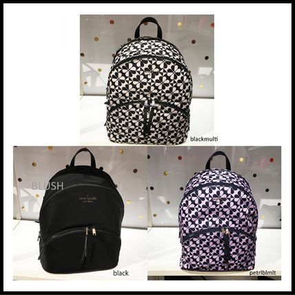 kate spade new york Casual Style Nylon A4 2WAY Logo Backpacks