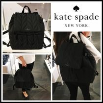 kate spade new york Casual Style Nylon A4 Logo Backpacks