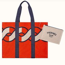 HERMES Canvas Handmade Totes