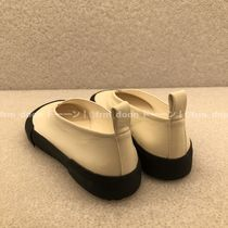 Jil Sander Round Toe Bi-color Plain Flats