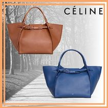 CELINE Big Bag Casual Style Calfskin Street Style Plain Leather