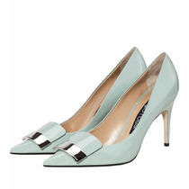 Sergio Rossi Casual Style Plain Leather Pin Heels Party Style