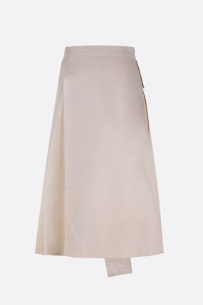 Casual Style Plain Cotton Skirts