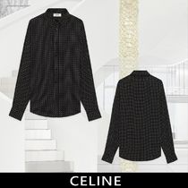 CELINE Dots Long Sleeves Front Button Shirts