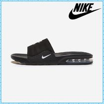 Nike AIR MAX Blended Fabrics Street Style Leather Logo Sandals