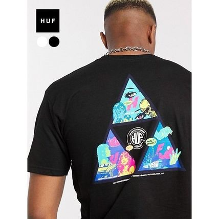 HUF More T-Shirts Unisex Street Style Cotton Short Sleeves Logo T-Shirts