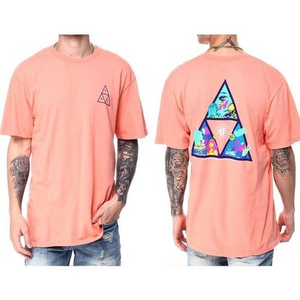 HUF More T-Shirts Unisex Street Style Cotton Short Sleeves Logo T-Shirts 5